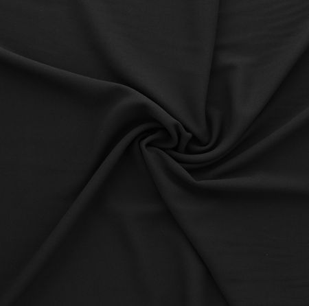 Tissu crêpe viscose - Noir