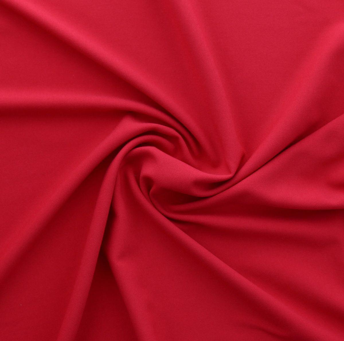 Tissu crêpe viscose - Rouge