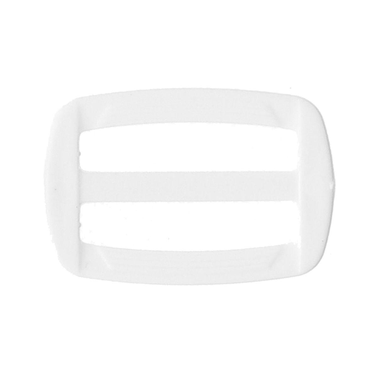 Boucle coulissante plastique blanc 30 mm