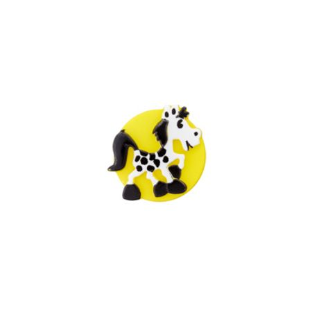 Bouton cheval jaune