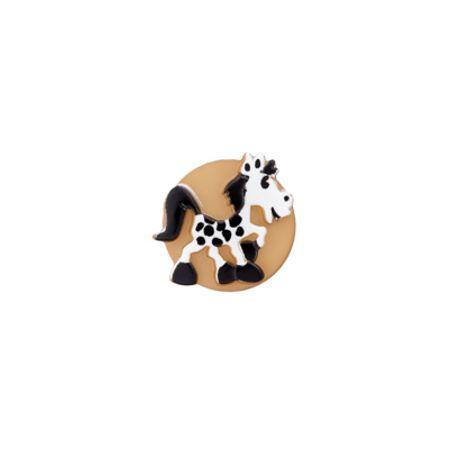 Bouton cheval beige
