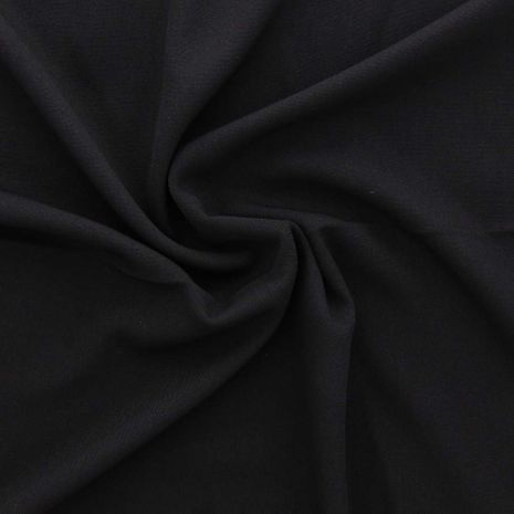 Tissu toile de tweed - Noir