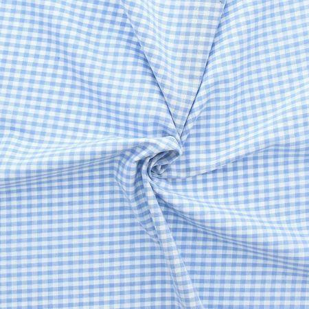 Tissu Vichy grands carreaux - Bleu clair