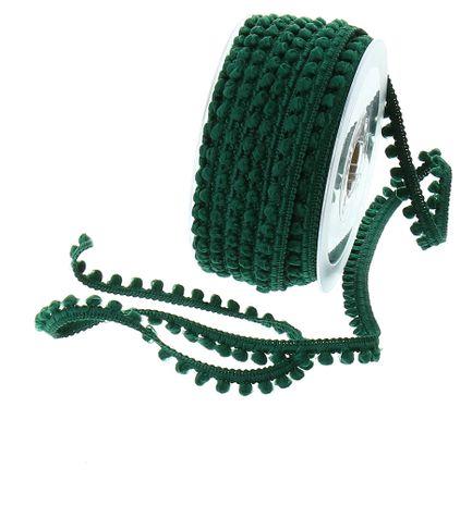 Galon mini pompons - Vert bouteille