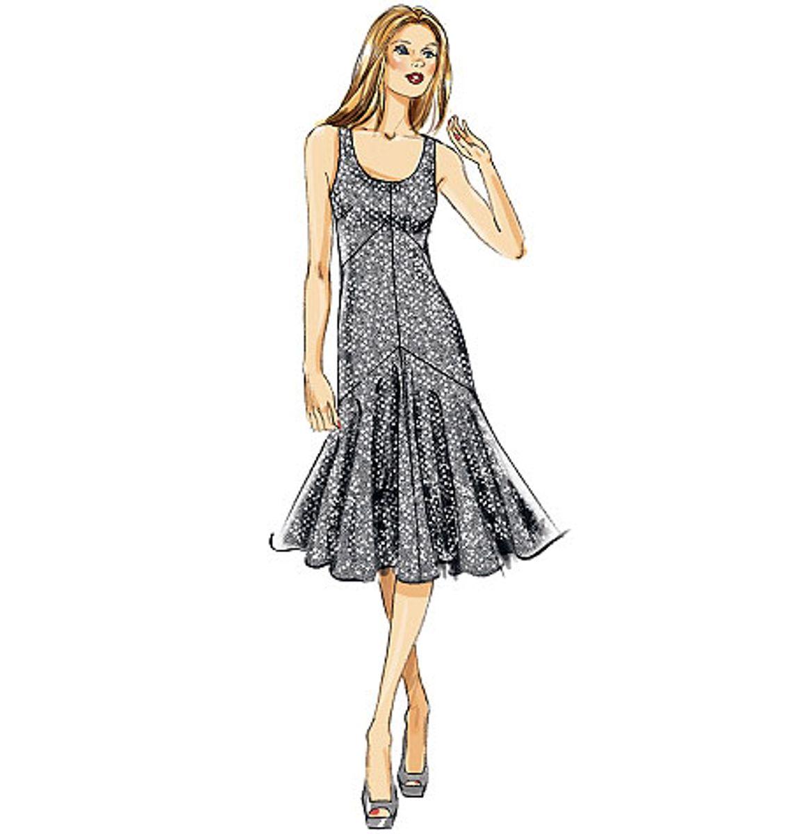 Patron de robe - Vogue 8814