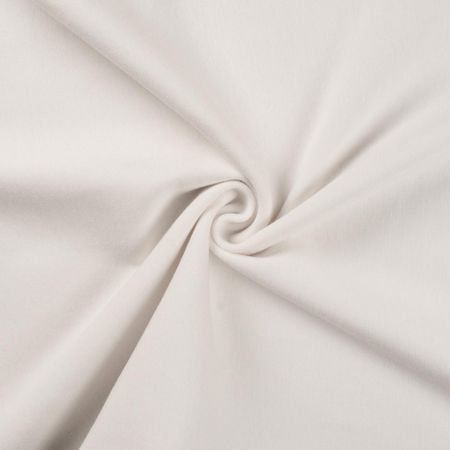 Tissu jersey bord côte - Blanc