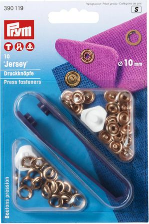 Boutons pression jersey Cuivre avec outil 10 mm