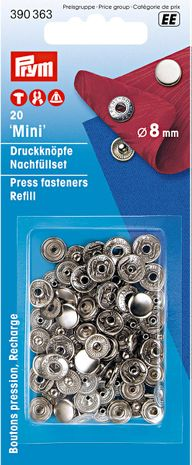 Recharge boutons pression anorak 8 mm Argent