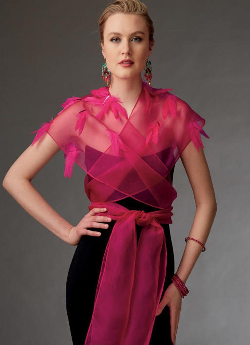 Patron de boléros et mini cape - Vogue 9276