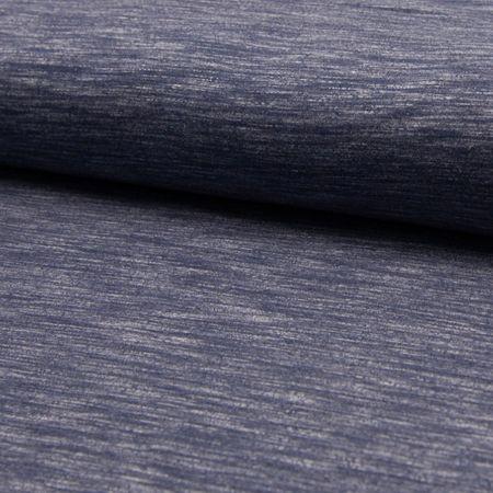 Tissu jogging mélangé - Bleu jeans