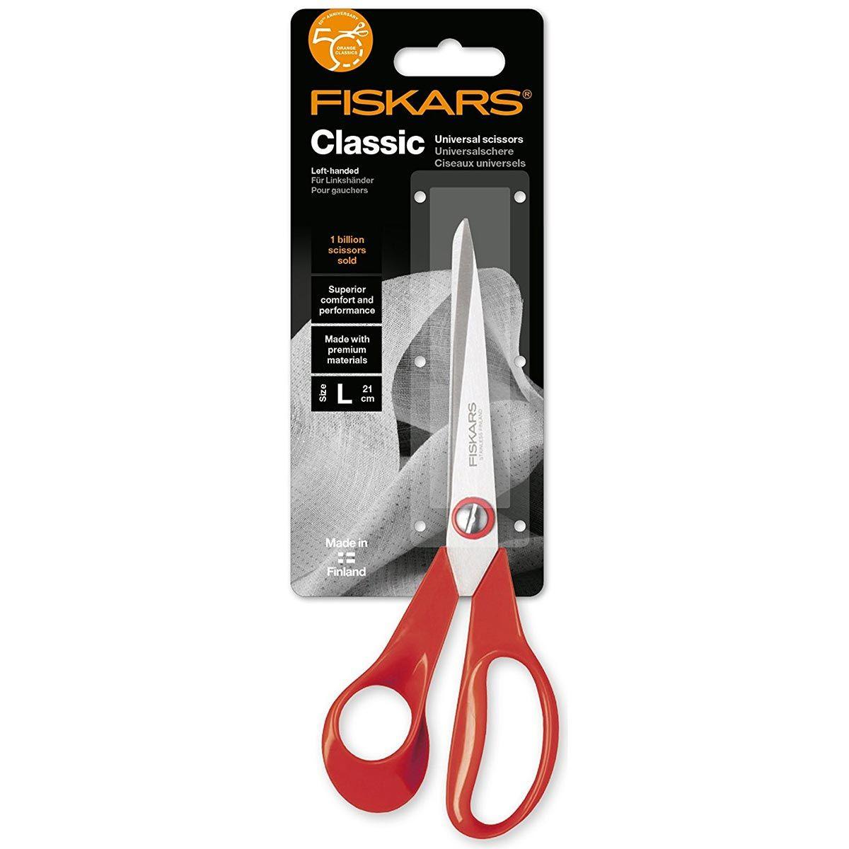 Ciseaux Fiskars classic universels gauchers 21 cm