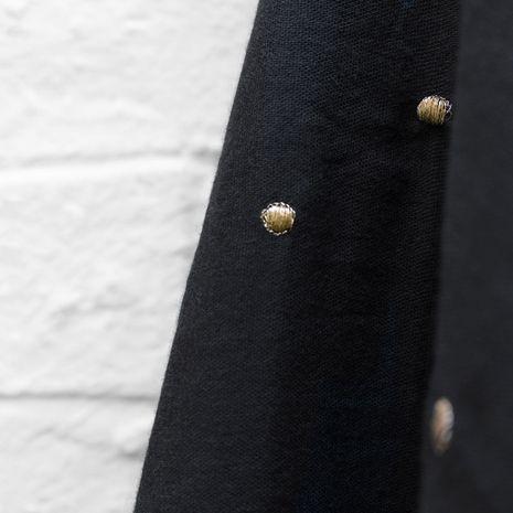 Tissu double gaze Stardust Black - Atelier Brunette