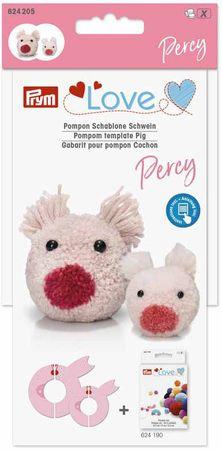 Gabarit pour pompons - Cochon Percy