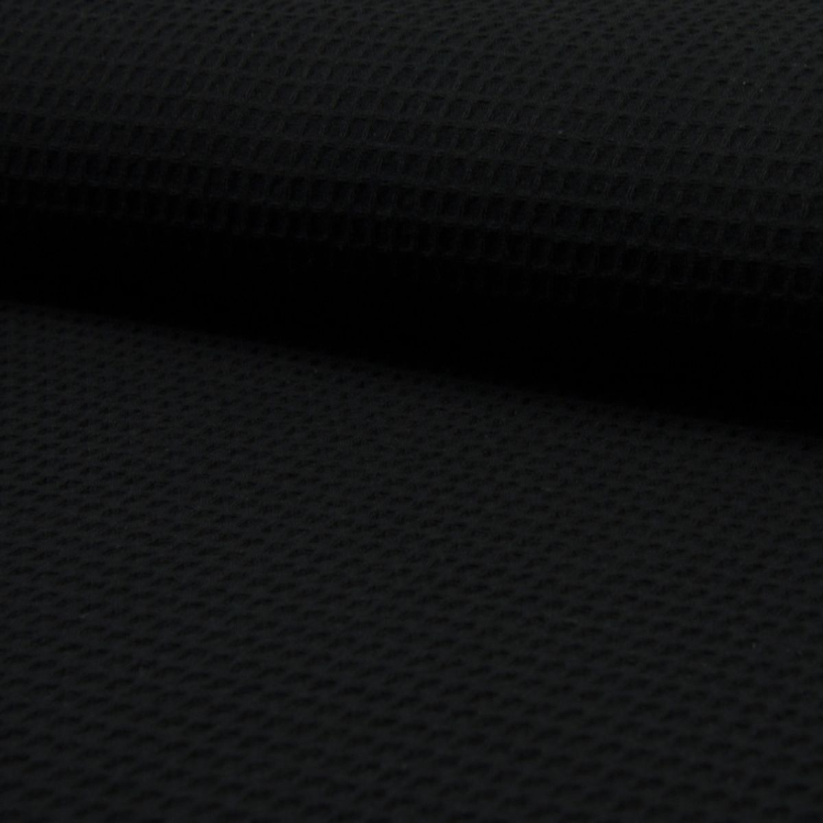 Tissu torchon nid d´abeille - Noir