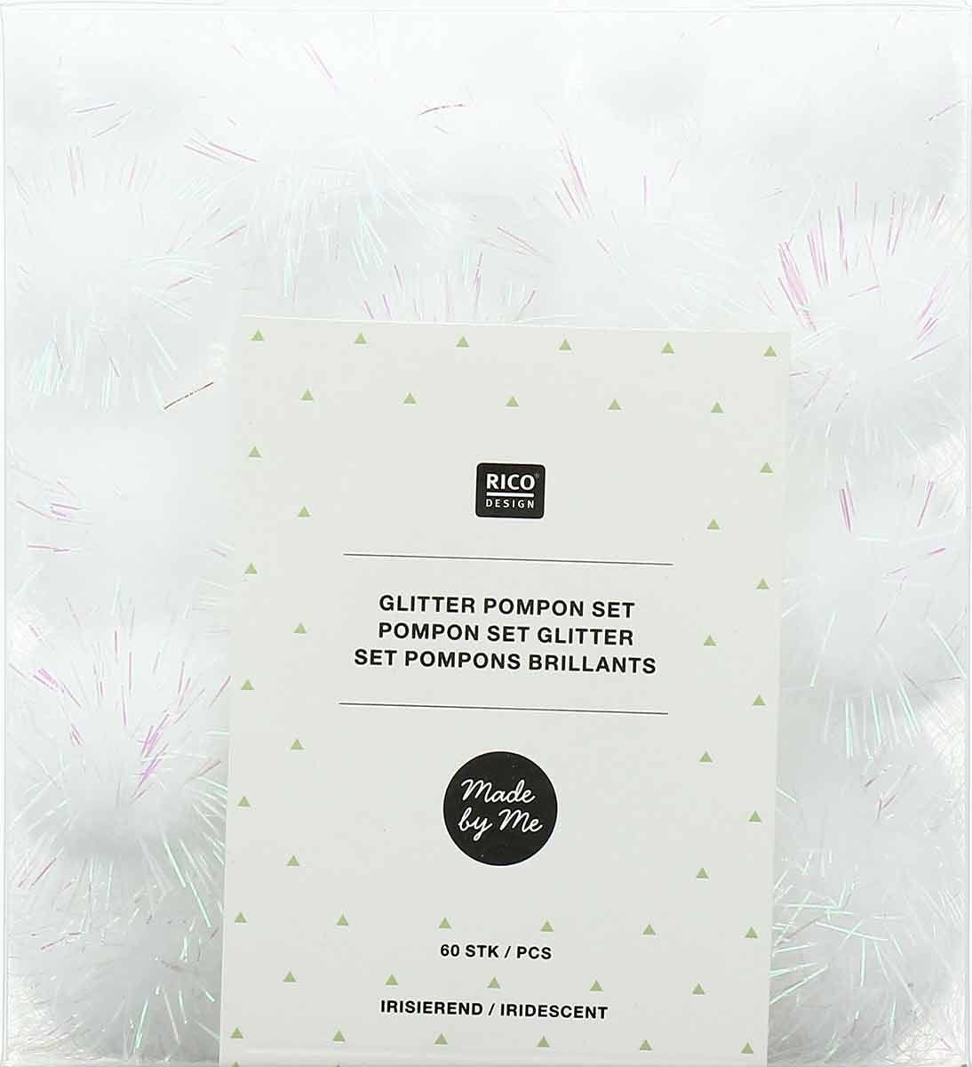 Set de 60 pompons brillants - Iridescent