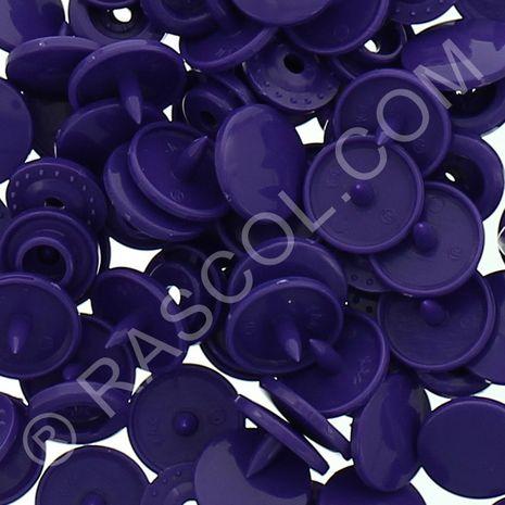 Sachet de 25 pressions résine KAM ronds - Violet