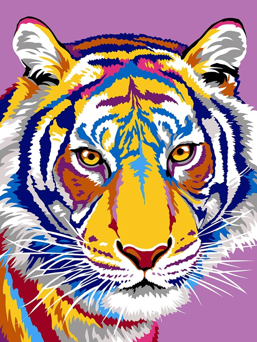 Kit canevas pénélope Margot de Paris - Les dessins du tigre