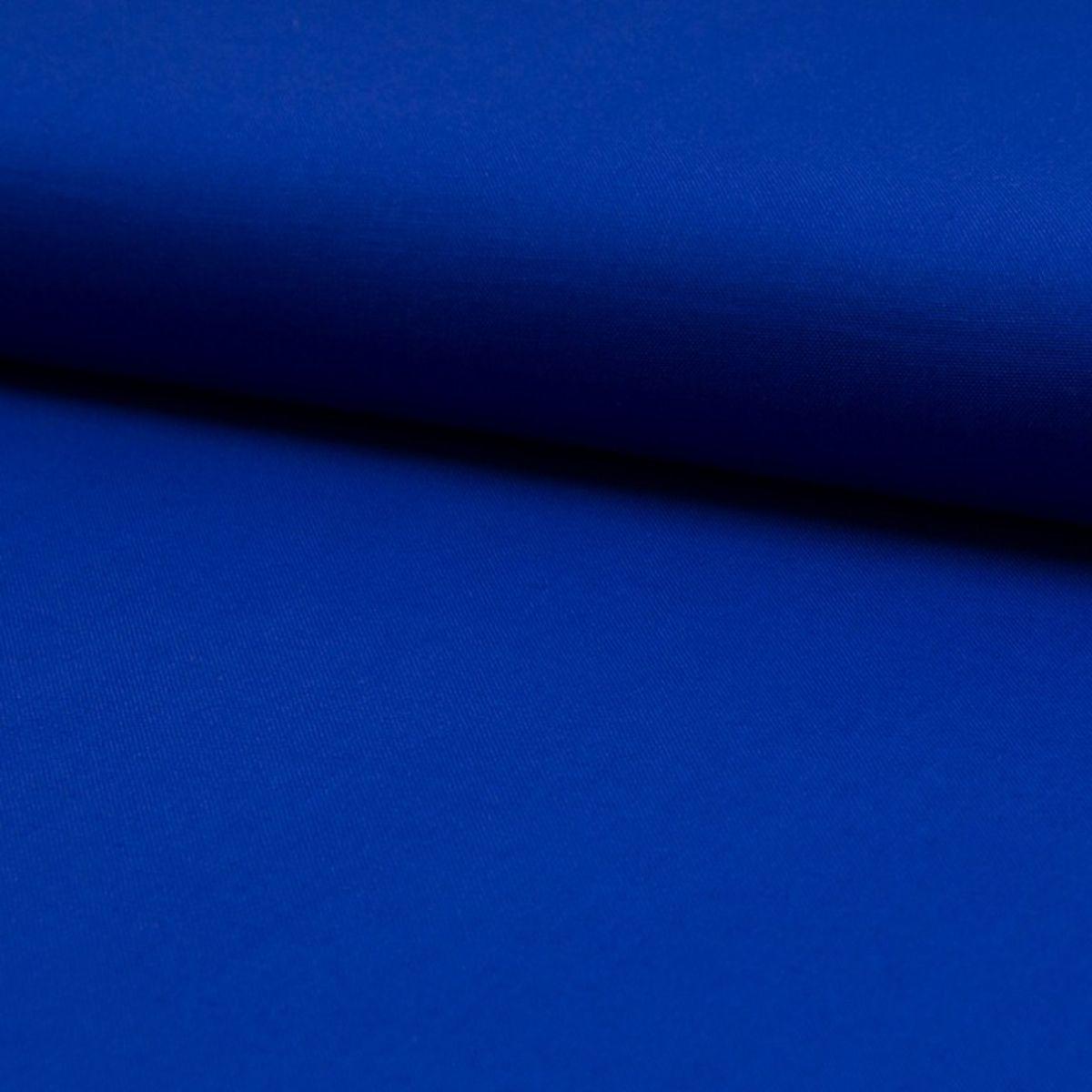 Tissu coton uni - Bleu roy