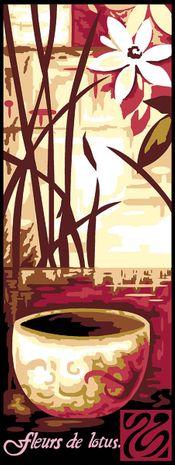 Kit canevas pénélope Margot de Paris - Fleur de lotus 1