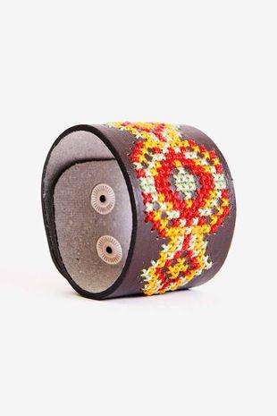 Bracelet en simili cuir à broder DMC - 21.5 cm