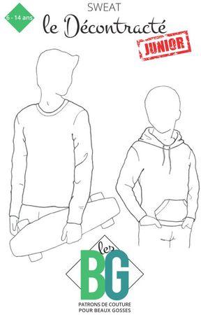 Patron de sweat pour garçon Le Décontracté Junior - Les BG