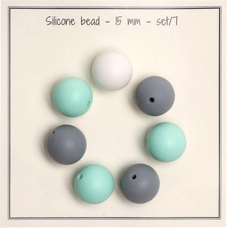 Perles en silicone 15 mm pour hochets, attache tétine bébé