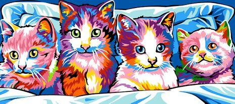 Kit canevas pénélope SEG de Paris - Les chats