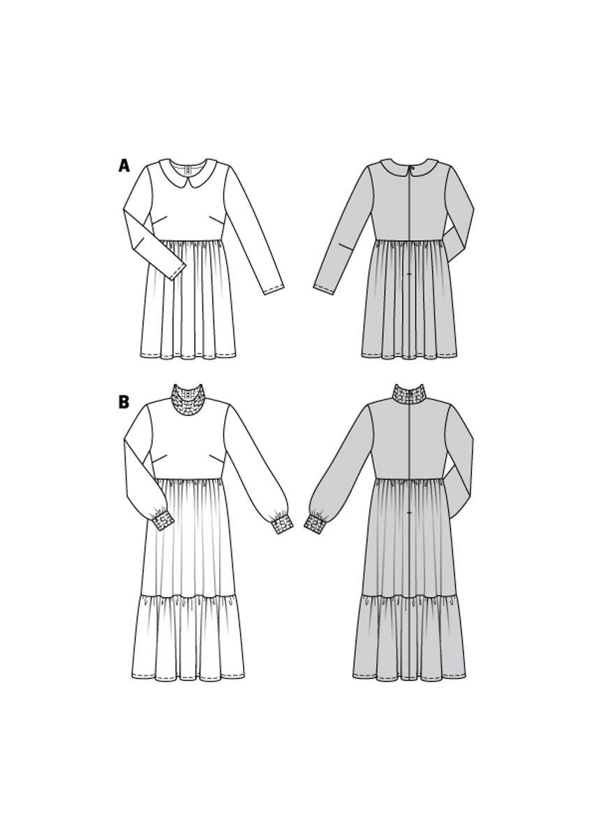 Patron de robe col claudine - Burda 6265