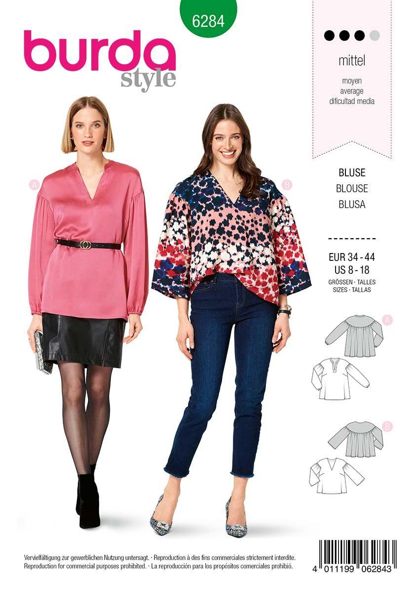 Patron de blouse  - Burda 6284