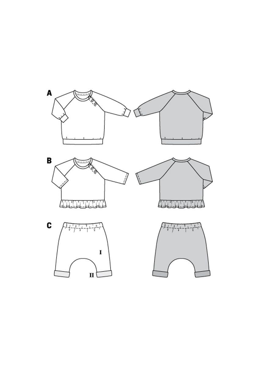 Patron de tee-shirt et pantalon élastique - Burda 9312