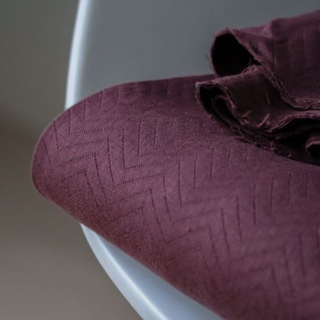 Tissu sweat matelassé BIO - Bordeaux