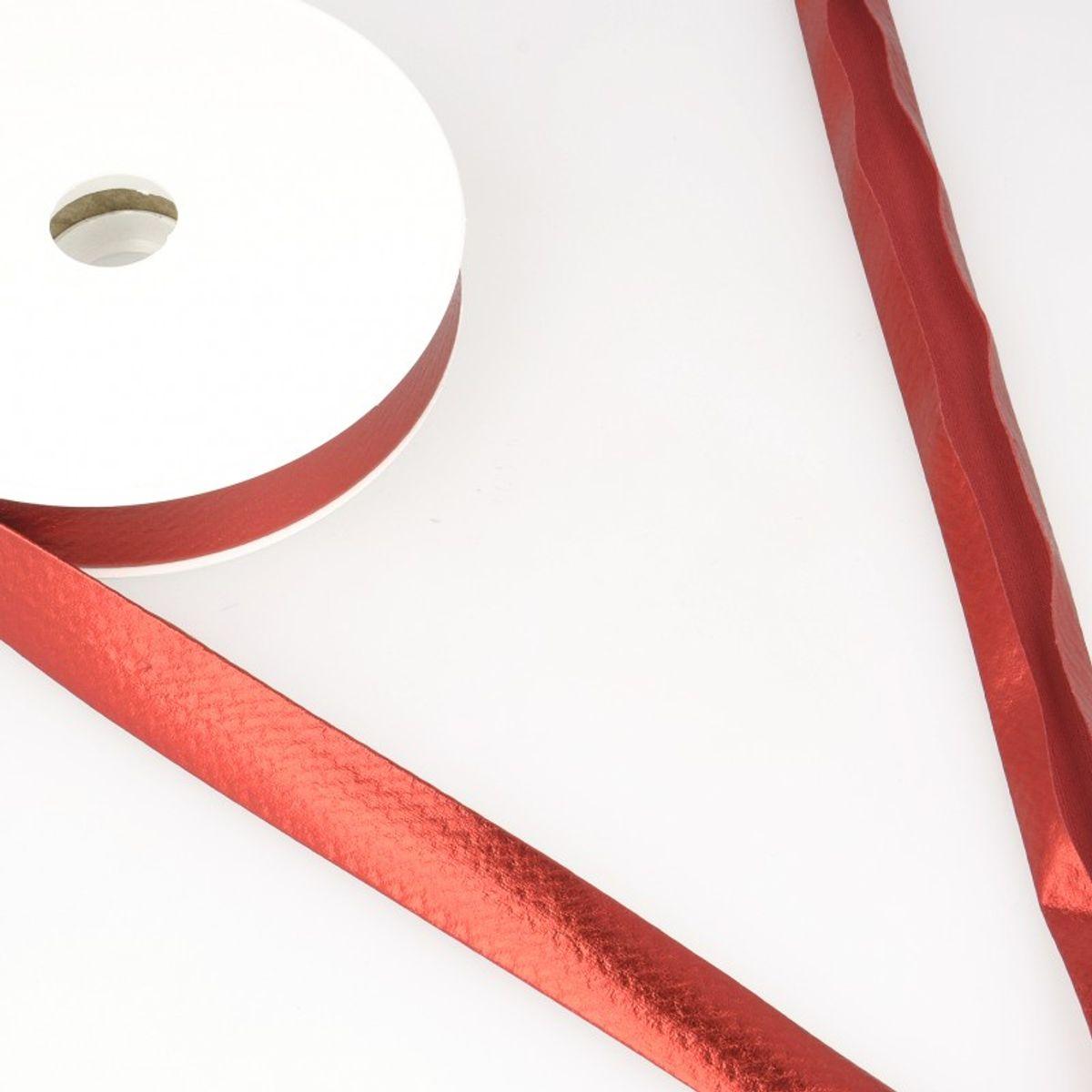 Biais lamé métallisé - Rouge