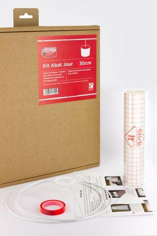 Kit de fabrication d'abat-jour cylindre diamètre 30 cm