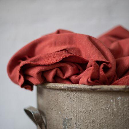 Tissu sweat moucheté BIO - Corail